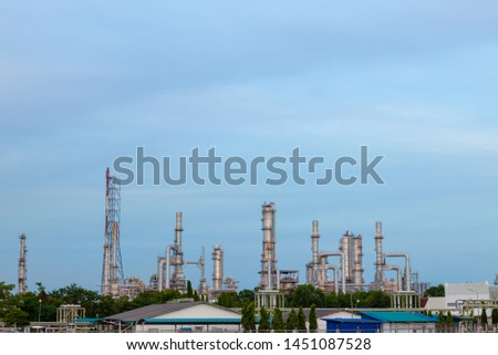Landscape of Industrial, Industrial plant at twilight, Industrial background. #1451087528