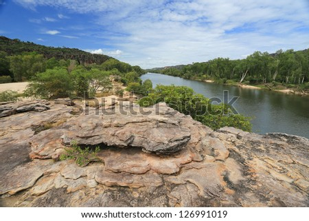 Landscape of Kakadu with Alligator River