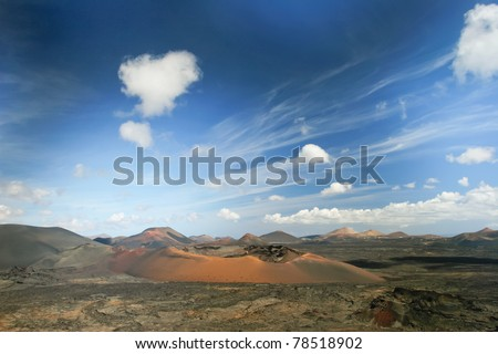 Landscape of Lanzarote, Canary Islands