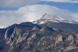 Landscape of Longs Peak, Rocky Mountain National Park, Colorado, USA