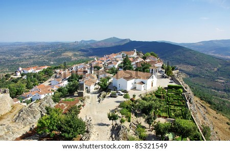 Landscape of Marvao,old village, Portugal.