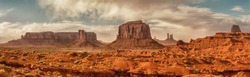Landscape of Monument valley. Panoramic view. Navajo tribal park, USA.