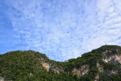 landscape of mountainous countryside in afternoon. gorgeous cloudscape above the ridge