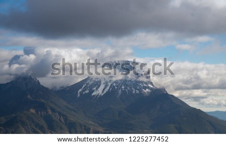landscape of mountains and blue sky #1225277452