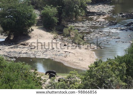 Landscape of oliphant river in Kruger National Park
