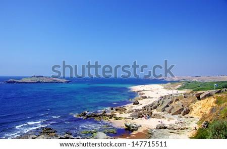 Landscape of Porto Covo beach, Portugal