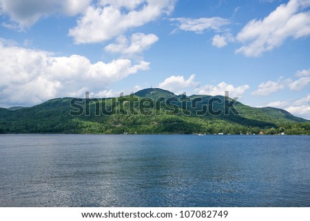Landscape of Quebec in the region of Magog.