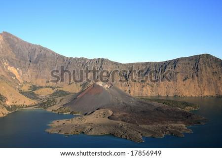 landscape of Rinjani volcano . Lombok island. Indonesia