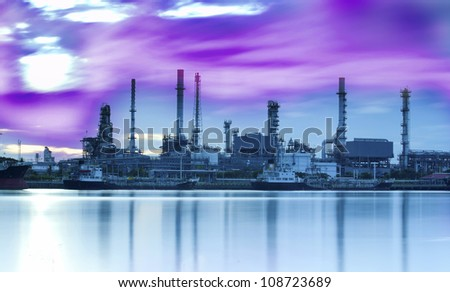 Scientist with oil refinery background , Laboratory research concept ...