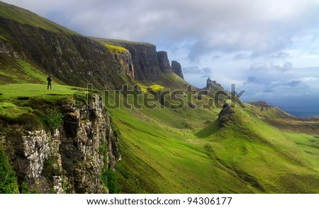 Landscape of Scotland with man