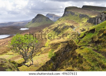 Landscape of Scottish Isle of Skye