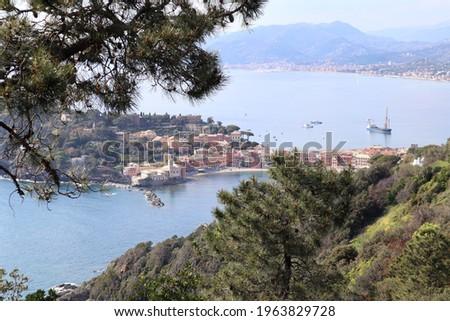 landscape of Sestri Levante in Liguria, Italy  Stock photo ©