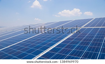 landscape of solar cell farm power plant eco technology