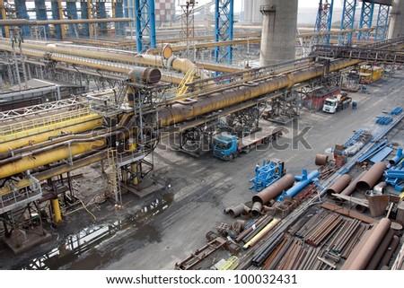 Landscape of steel plant
