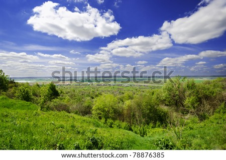 Landscape of summer day valley