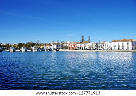 Landscape of Tavira city, Portugal