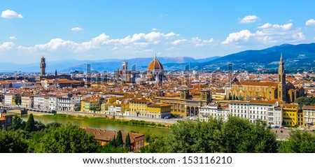 Landscape of the Florence, Italy Imagine de stoc ©