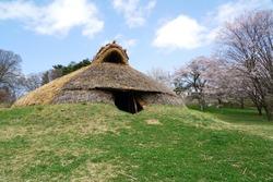 Landscape of the jomon ruins - Idojiri ruins in japan