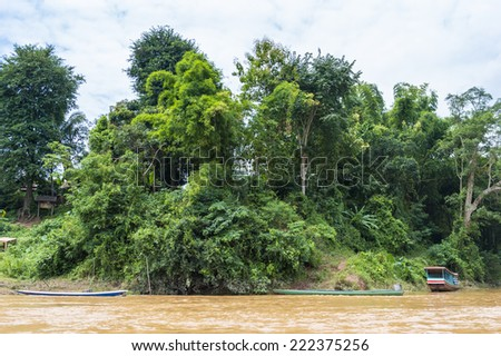 Landscape of the Mekong river in Asia #222375256