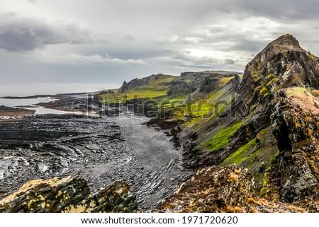 Landscape of the sea coast of the Barents Sea on the Kola Peninsula, Russia. Soft focus. Zdjęcia stock ©
