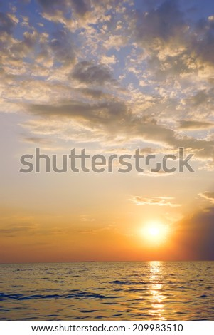 Landscape of the sea in the evening    #209983510