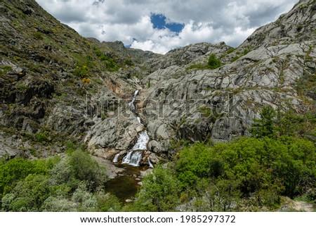 Landscape of the Tera River Canyon. Natural Park Lake Sanabria, Zamora, Spain. Stock fotó ©