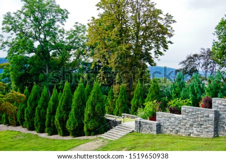 """Landscape of """"The vista"""" in Untermyer Park Yonkers nyc usa #1519650938"""
