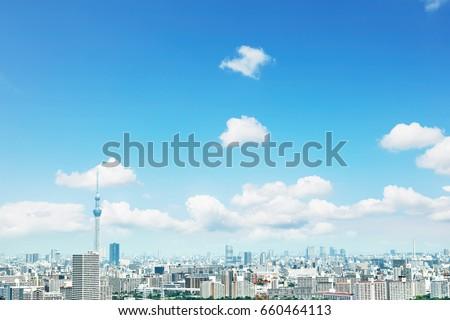 landscape of Tokyo city #660464113