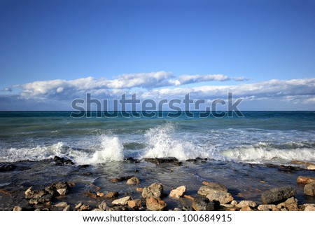 Landscape of Tsilivi beach Zakynthos Greece