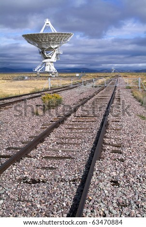 Landscape of Very Large Array of Radio Telescopes in Magdalena, New Mexico, USA