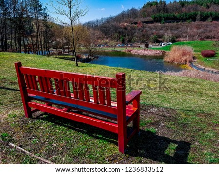 Landscape pic form bench point of view in Hungary