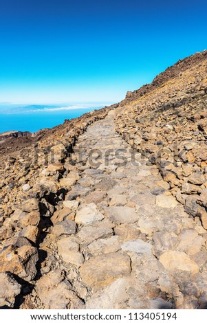 landscape route on Mount Teide, Spain, Tenerife