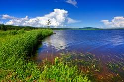 Landscape scenery of Beaver Brook, New Brunswick (HDR composite)