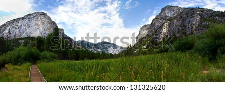 Landscape shot in Sequoia and Kings Canyon National Park California.