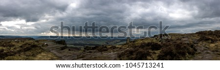 landscape shots from Curbar edge in the Peak District, on a overcast day