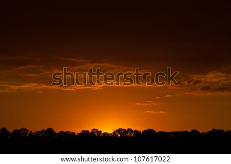 Landscape. Sunset