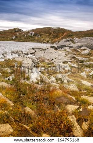 Landscape surrounding Bergen in Norway. Walking trail from Floyen to Ulriken. #164795168