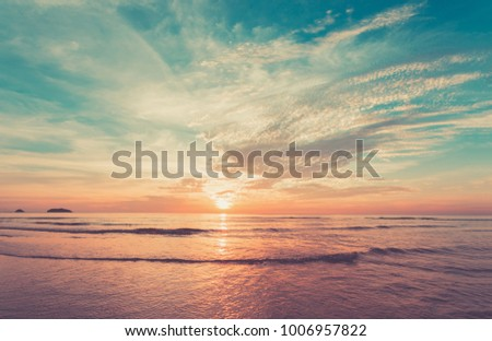 Landscape The sky and ocean in the sunset time Popular tourist attractions of the tourist #1006957822