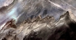 landscape tribute to Ansel Adams, United States, abstract photography of relief drawings in  fields in the U.S.A. from the air, Genre: Abstract Naturalism, from the abstract to the figurative,