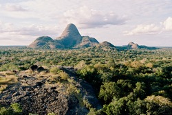 Landscape View From An Inselberg In Niassa National Park