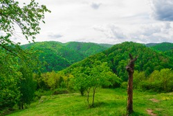 landscape view from the hilltop