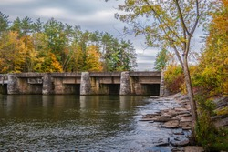 Landscape View of Black River Canal Aqueduct, It's Located North of Rome, New York and Officially Named as Delta Dam State and also Visited by Amateur Anglers.