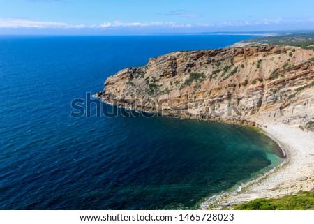"""Landscape view of cape """"Cabo Espichel"""". Coastline of Portugal. #1465728023"""