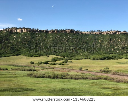 Landscape view of Castle Rock, Colorado