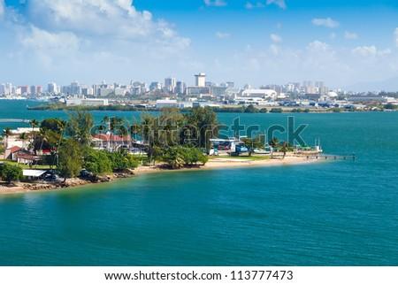 Landscape view of city of San Juan, Puerto Rico
