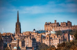 landscape view of Edinburgh in the morning