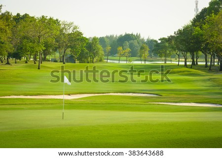 landscape view of golf course at Thailand