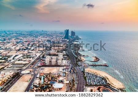 Landscape view of Jeddah Sea shore of Saudi Arabia