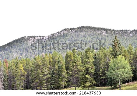 Landscape view of Rocky Mountains and Bow river valley in Banff National park. Alberta, Canada
