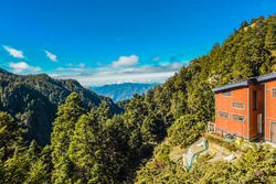 Landscape View Of The Mountains And Tongpu Valley From Paiyun Lodge, Yushan National Park, Chiayi, Taiwan